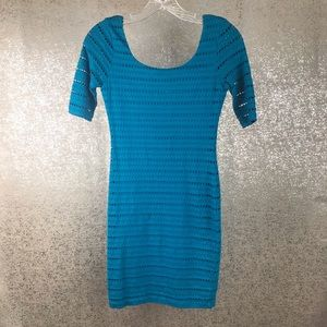 Bebe Dress Short Sleeve Mini Scoop Neck Size XXS